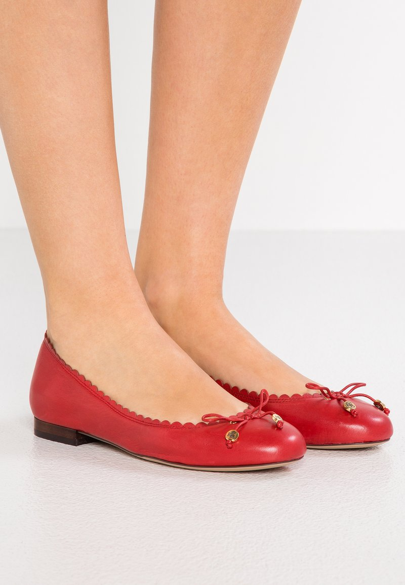 Lauren Ralph Lauren - SUPER SOFT GLENNIE - Ballerine - red