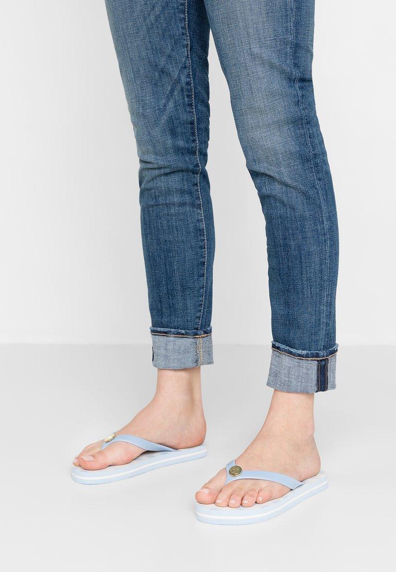 Lauren Ralph Lauren - LARGE GINGHAM CHECK ELISSA  - Sandalias de dedo - english blue/cream