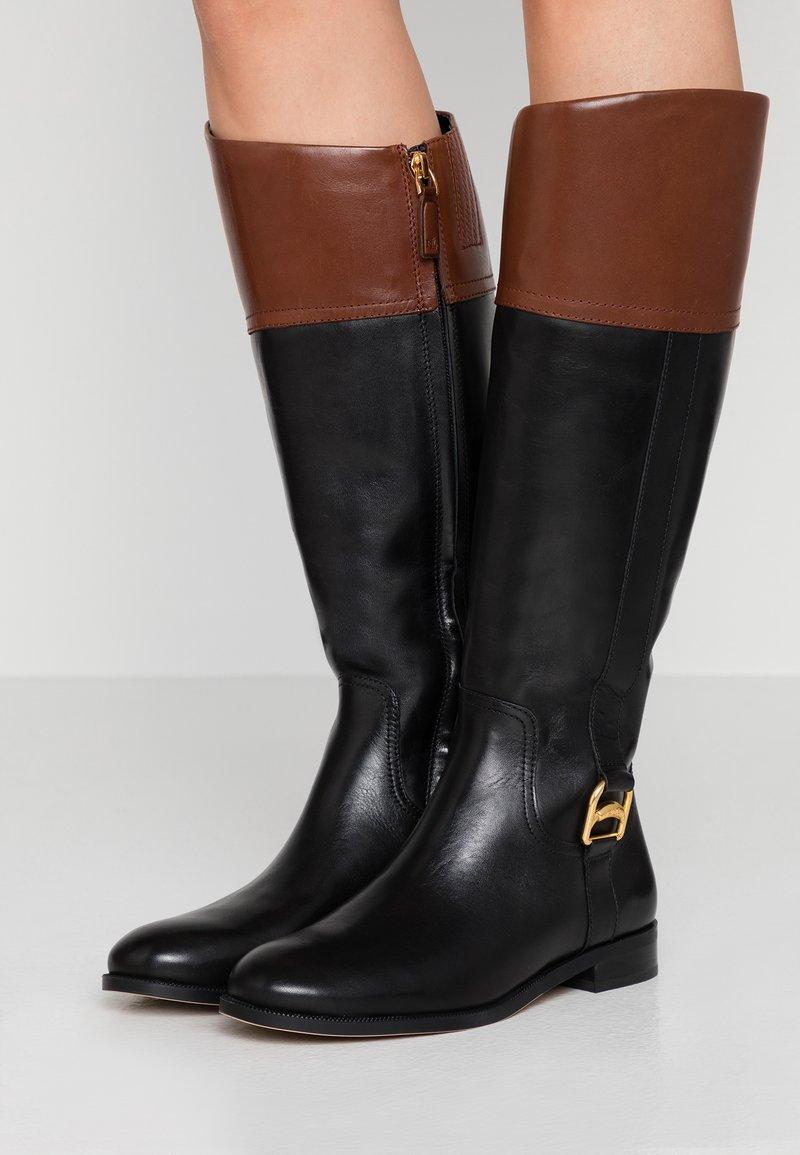 Lauren Ralph Lauren - BURNELL - Bottes - black/mid brown