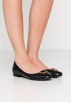 MINI CROC GALYN - Klassischer  Ballerina - black