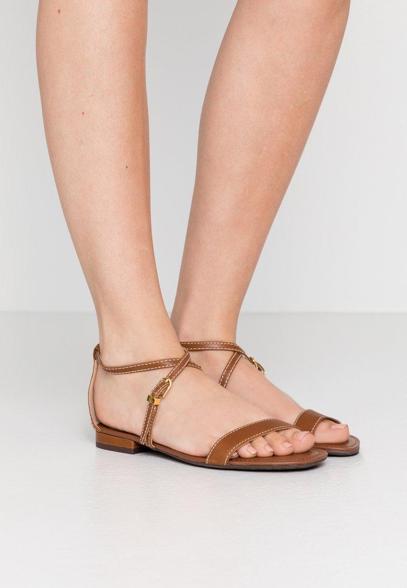 Lauren Ralph Lauren - BURNISHED  - Sandales - deep saddle tan