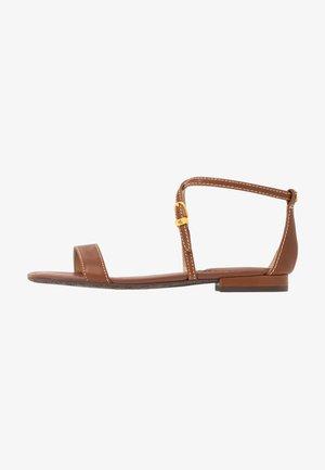 BURNISHED  - Sandales - deep saddle tan