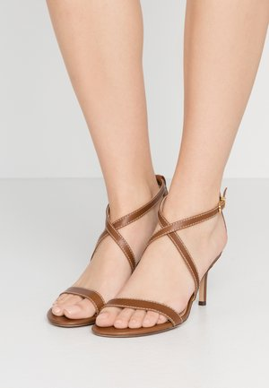 LEATON DRESS - Sandals - deep saddle tan