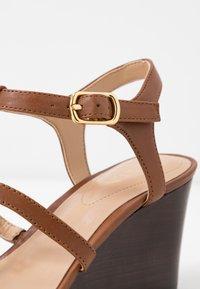 Lauren Ralph Lauren - CHARLTON CASUAL WEDGE - Sandales compensées - deep saddle tan - 2