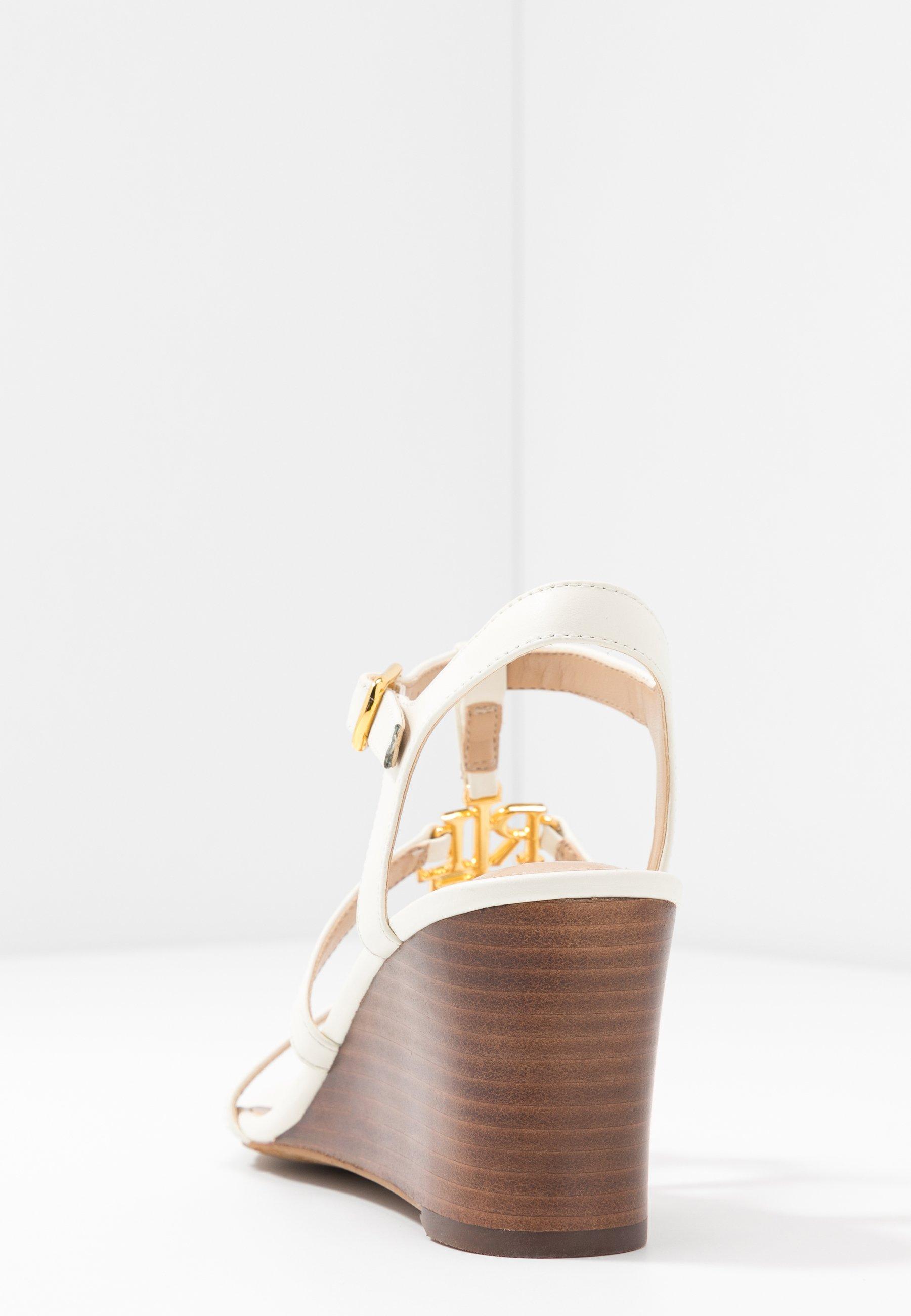 Lauren Ralph Lauren CHARLTON CASUAL WEDGE - Sandales compensées - vanilla