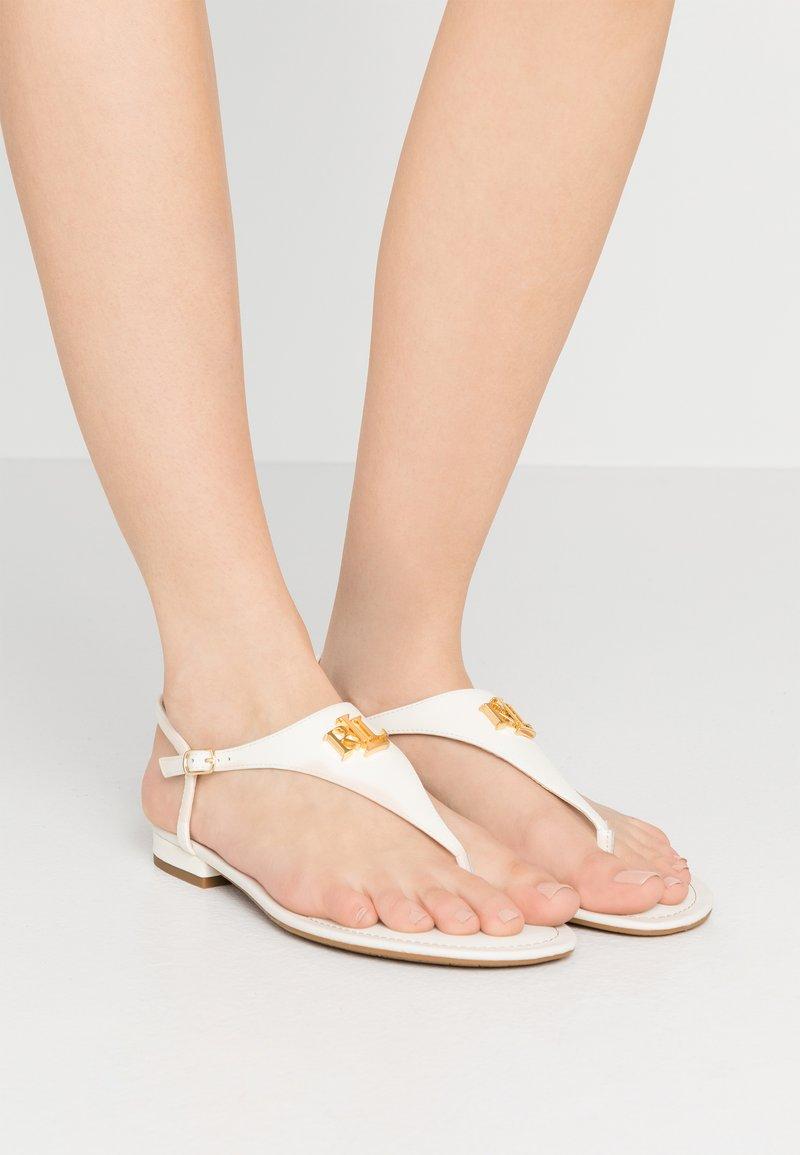 Lauren Ralph Lauren - SMOOTH SPORT ELLINGTON - Tongs - vanilla