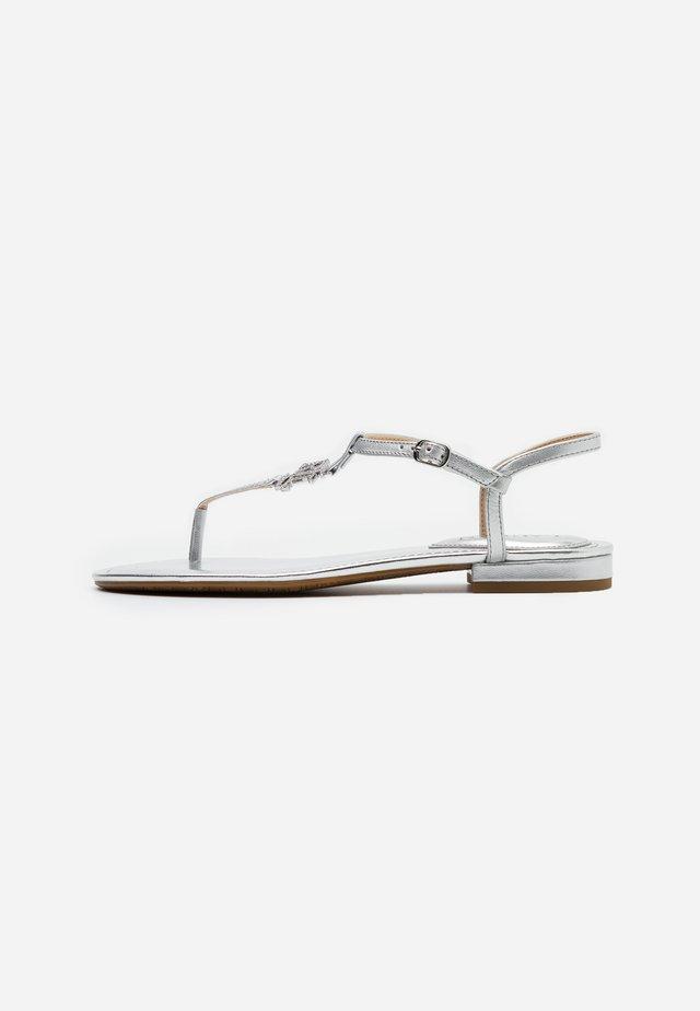 ELMSTEAD - T-bar sandals - bright silver