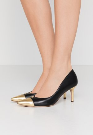 LANETTE CAP DRESS - Classic heels - black/gold rush