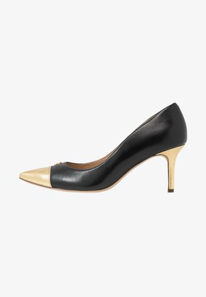 LANETTE CAP DRESS - Escarpins - black/gold rush