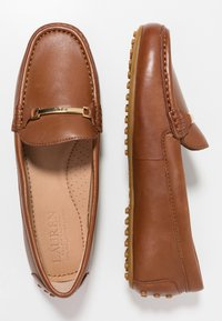 Lauren Ralph Lauren - BRIONY - Slippers - deep saddle tan - 3