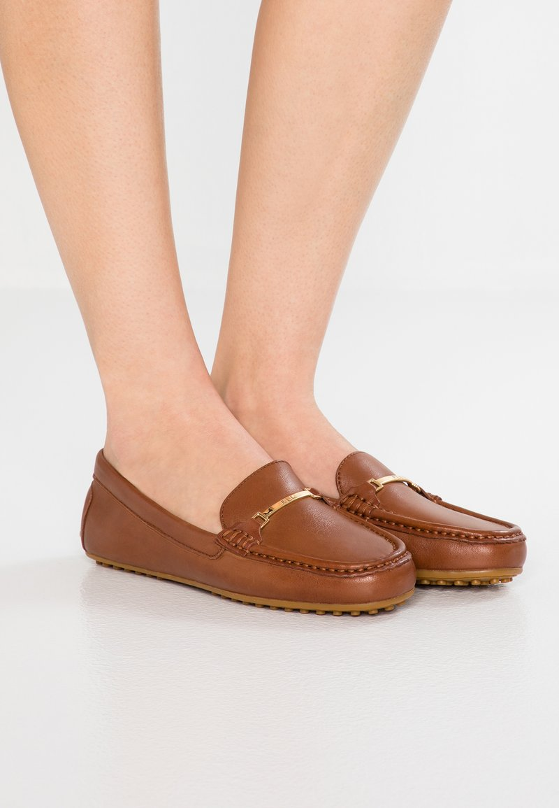 Lauren Ralph Lauren - BRIONY - Slippers - deep saddle tan