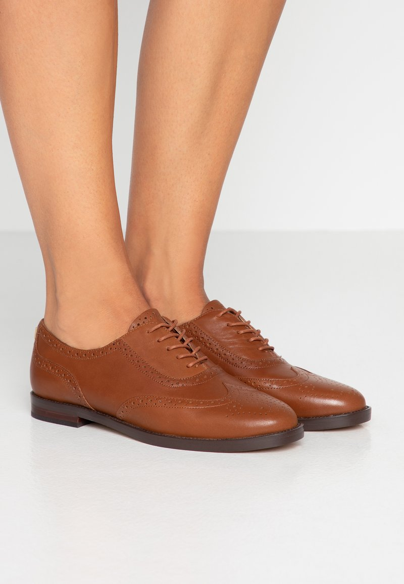 Lauren Ralph Lauren - MARLINA - Schnürer - deep saddle tan
