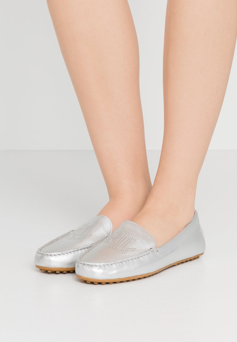 Lauren Ralph Lauren - METALLIC BARTLETT - Mocassins - bright silver