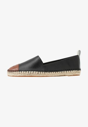 DORIAN CASUAL - Espadryle - black/deep saddle