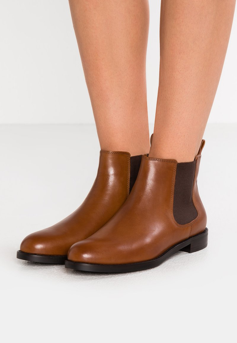 Lauren Ralph Lauren - SIGNATURE HAANA - Ankle Boot - deep saddle tan