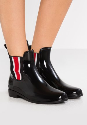 SHINY STRIPE TALLY - Gummistiefel - black