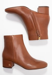 Lauren Ralph Lauren - WELFORD - Classic ankle boots - deep saddle tan - 3