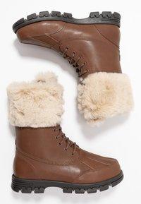 Lauren Ralph Lauren - DABNEY - Šněrovací kotníkové boty - deep saddle tan - 3