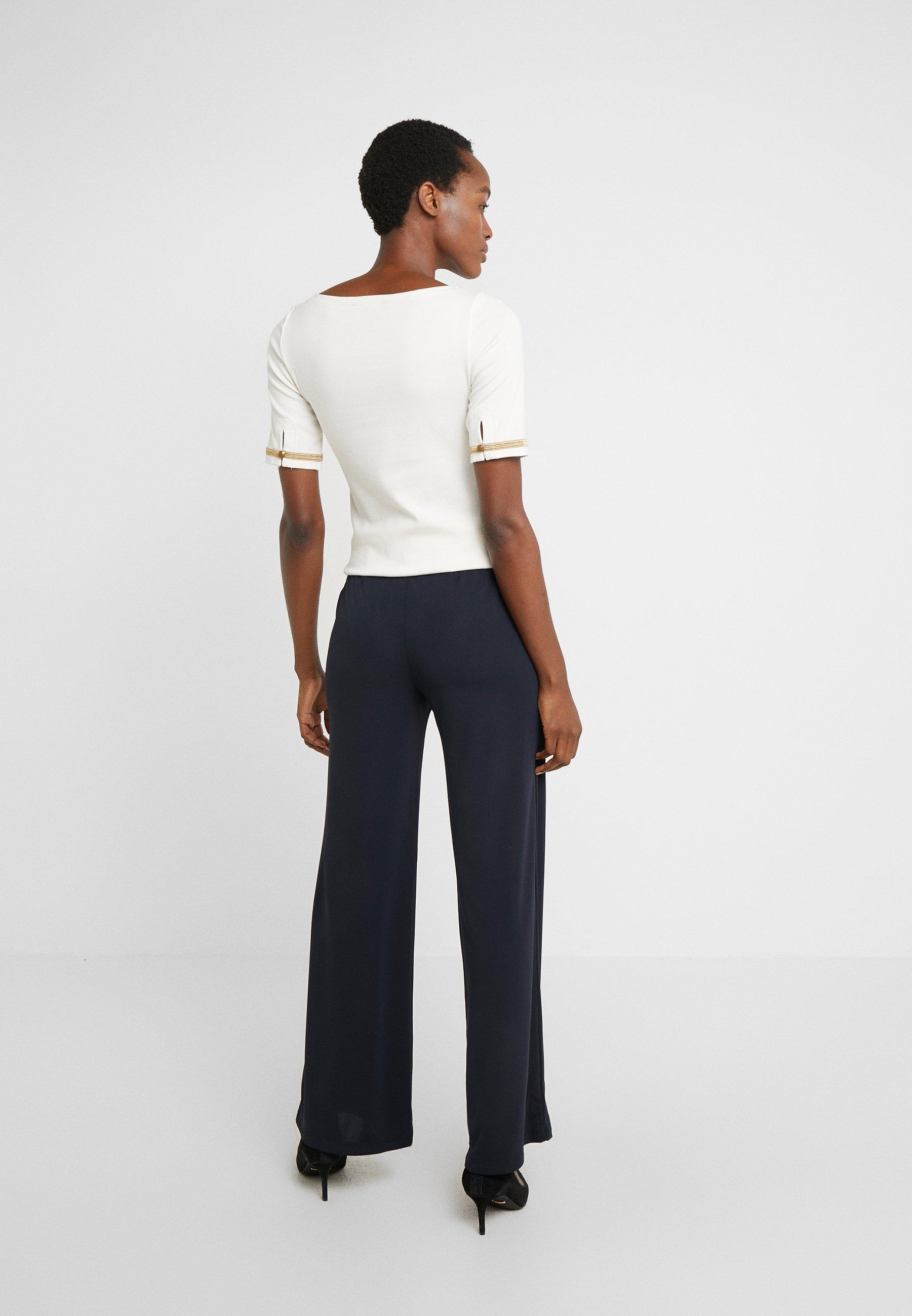 Lauren Ralph Lauren MATTE PANT - Spodnie materiałowe - navy