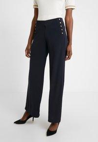 Lauren Ralph Lauren - MATTE PANT - Trousers - navy - 0