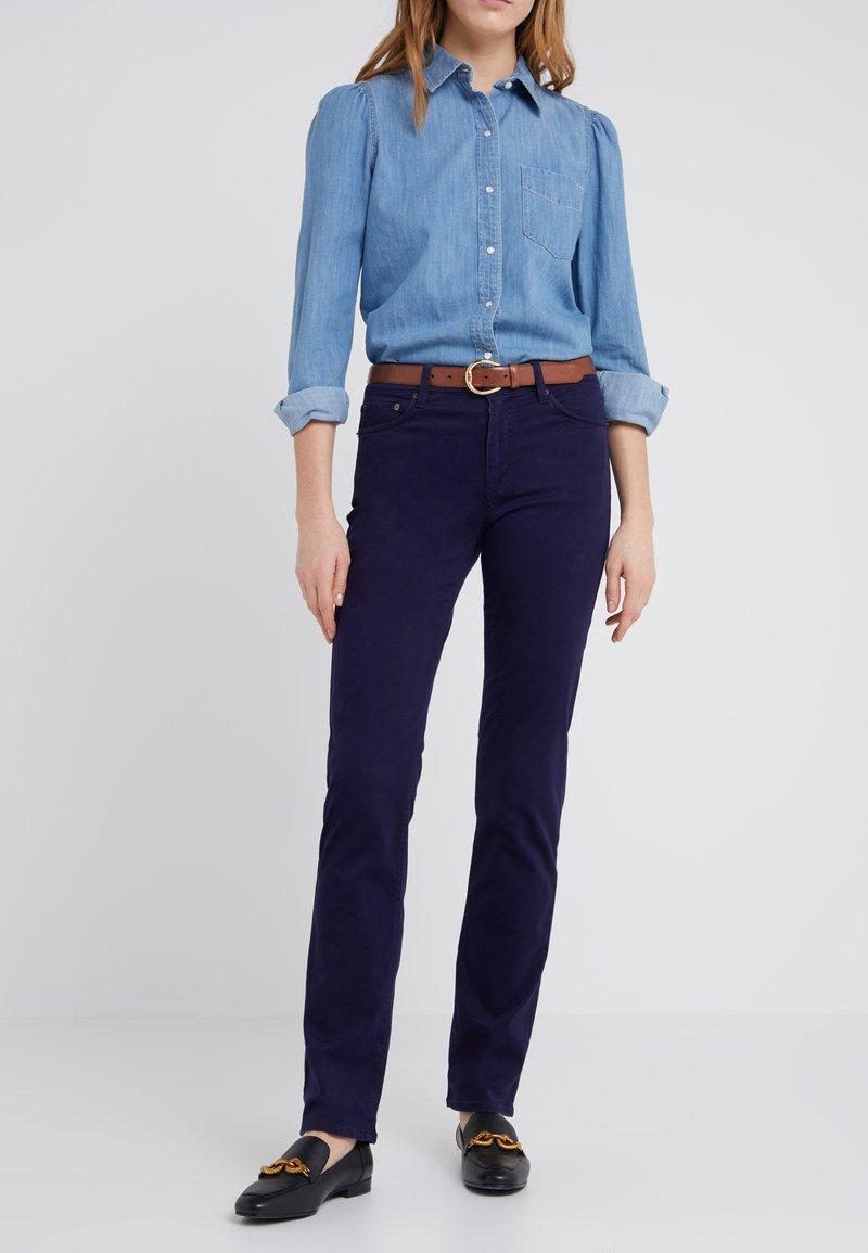 Lauren Ralph Lauren - WASHED PANT - Pantalon classique - navy