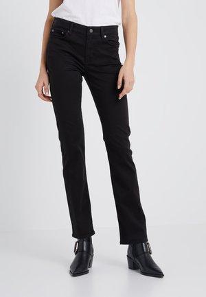WASHED PANT - Pantalones - black