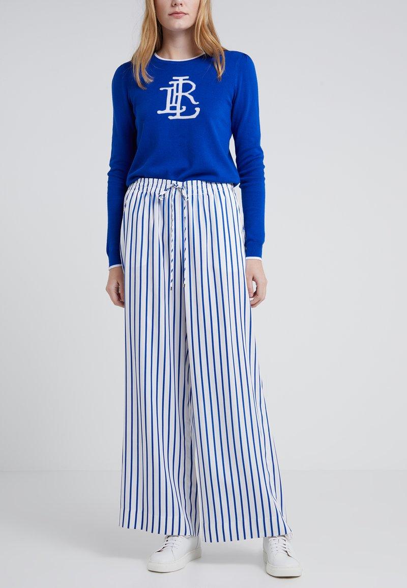 Lauren Ralph Lauren - Stoffhose - white/blue
