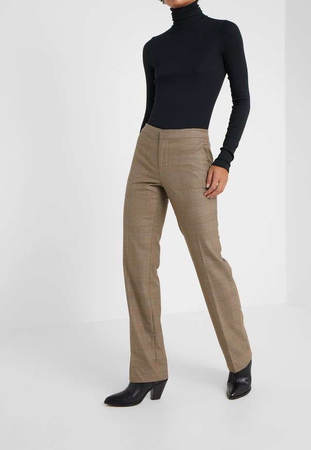 REFINED SUITING - Pantalon classique - brown/tan multi