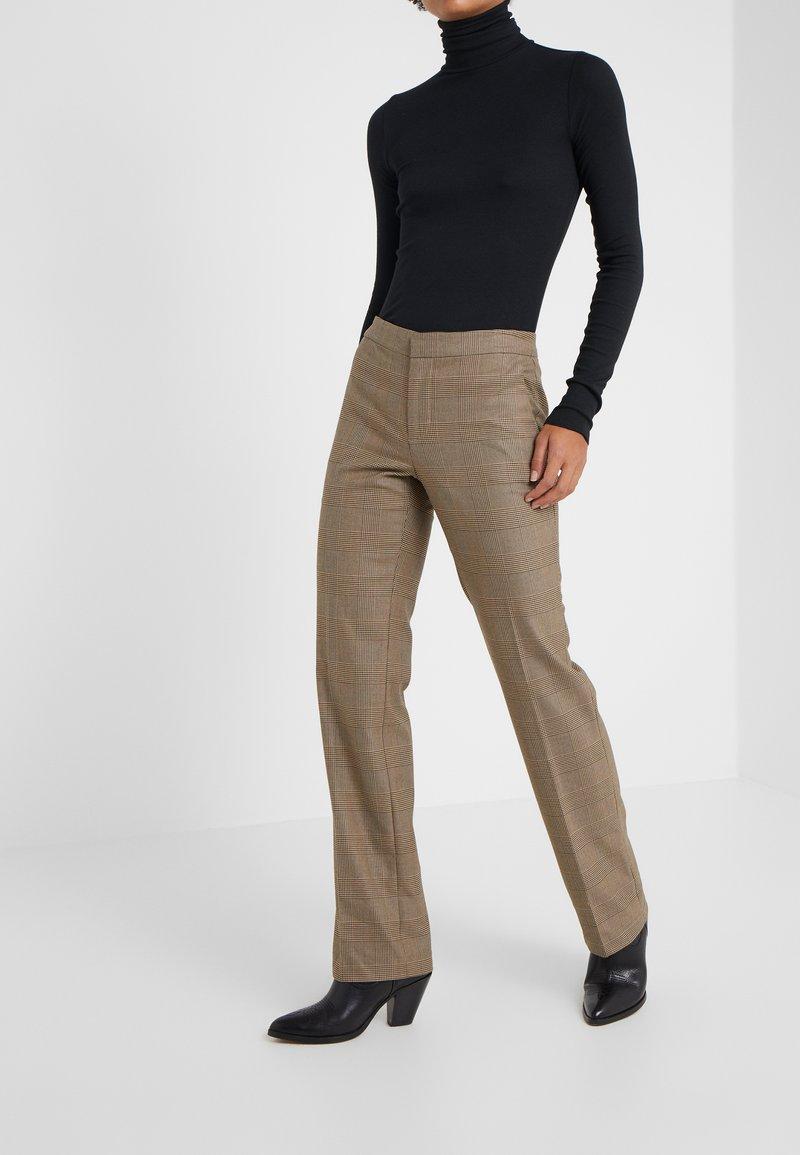 Lauren Ralph Lauren - REFINED SUITING - Pantaloni - brown/tan multi
