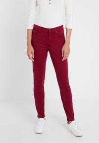 Lauren Ralph Lauren - WASHED PANT - Trousers - dark raspberry - 0