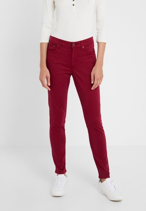 WASHED PANT - Trousers - dark raspberry