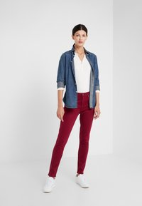 Lauren Ralph Lauren - WASHED PANT - Trousers - dark raspberry - 1