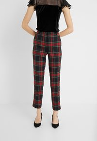 Lauren Ralph Lauren - NOVEL SUITING PANT - Spodnie materiałowe - black/red - 0