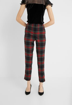 NOVEL SUITING PANT - Trousers - black/red