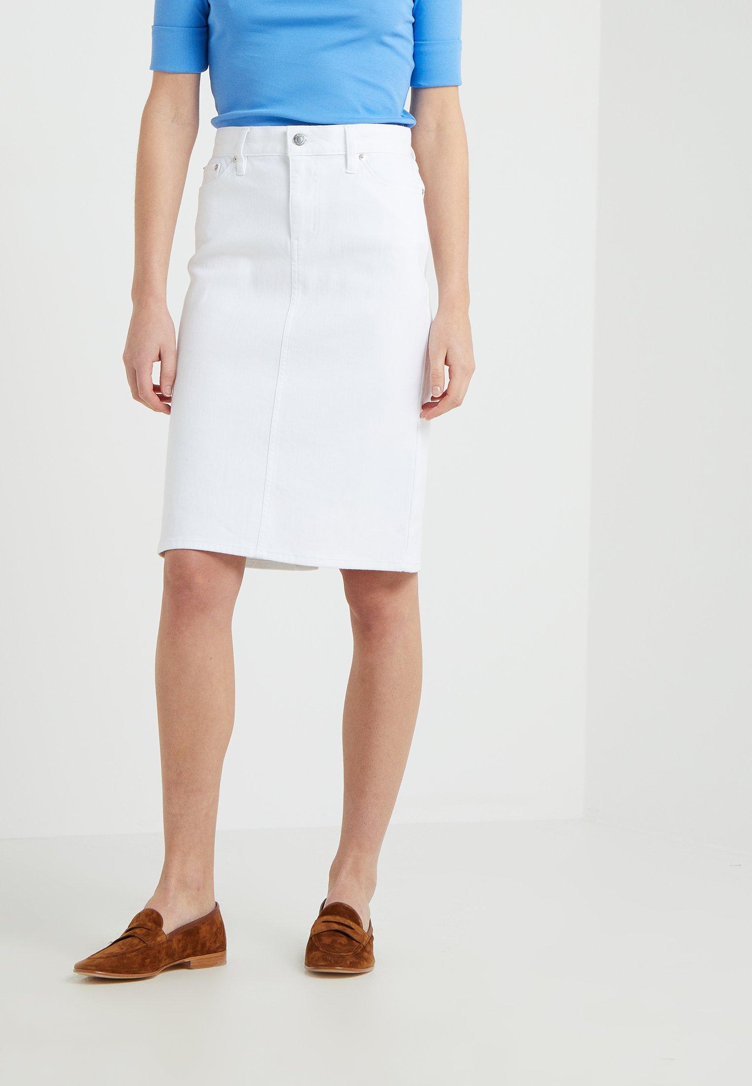 Lauren Ralph Lauren DANIELA STRAIGHT SKIRT - Spódnica ołówkowa - white