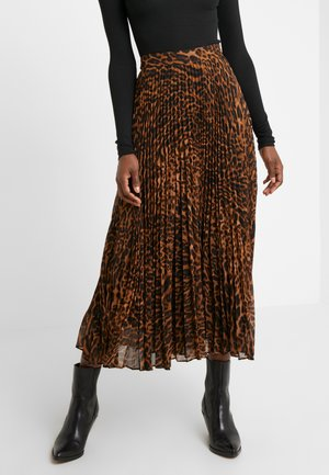 SKIRT - Áčková sukně - black multi