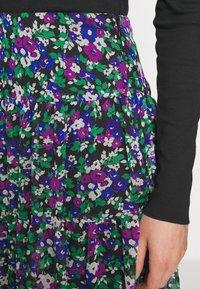 Lauren Ralph Lauren - CRINKLE SKIRT - Gonna a campana - black/multi - 5