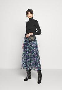 Lauren Ralph Lauren - CRINKLE SKIRT - Gonna a campana - black/multi - 1