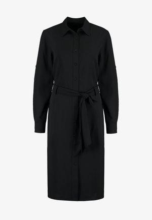 TRIPLE GEORGETTE - Robe chemise - black