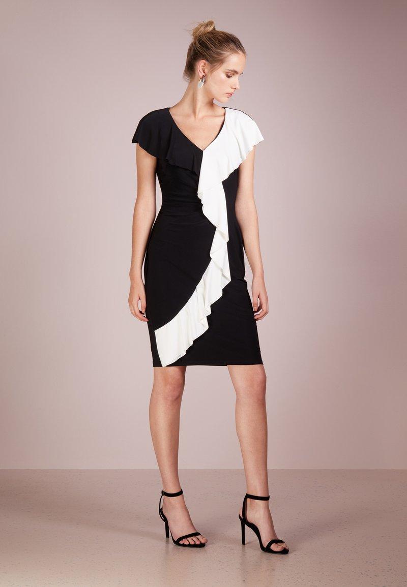 Lauren Ralph Lauren - SAMSON  - Etui-jurk - black/white
