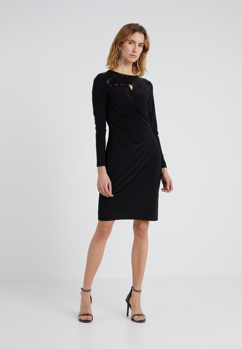 Lauren Ralph Lauren - Shift dress - black/black shine