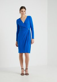 Lauren Ralph Lauren - CASONDRA LONG SLEEVE DAY DRESS - Robe en jersey - portuguese blue - 0