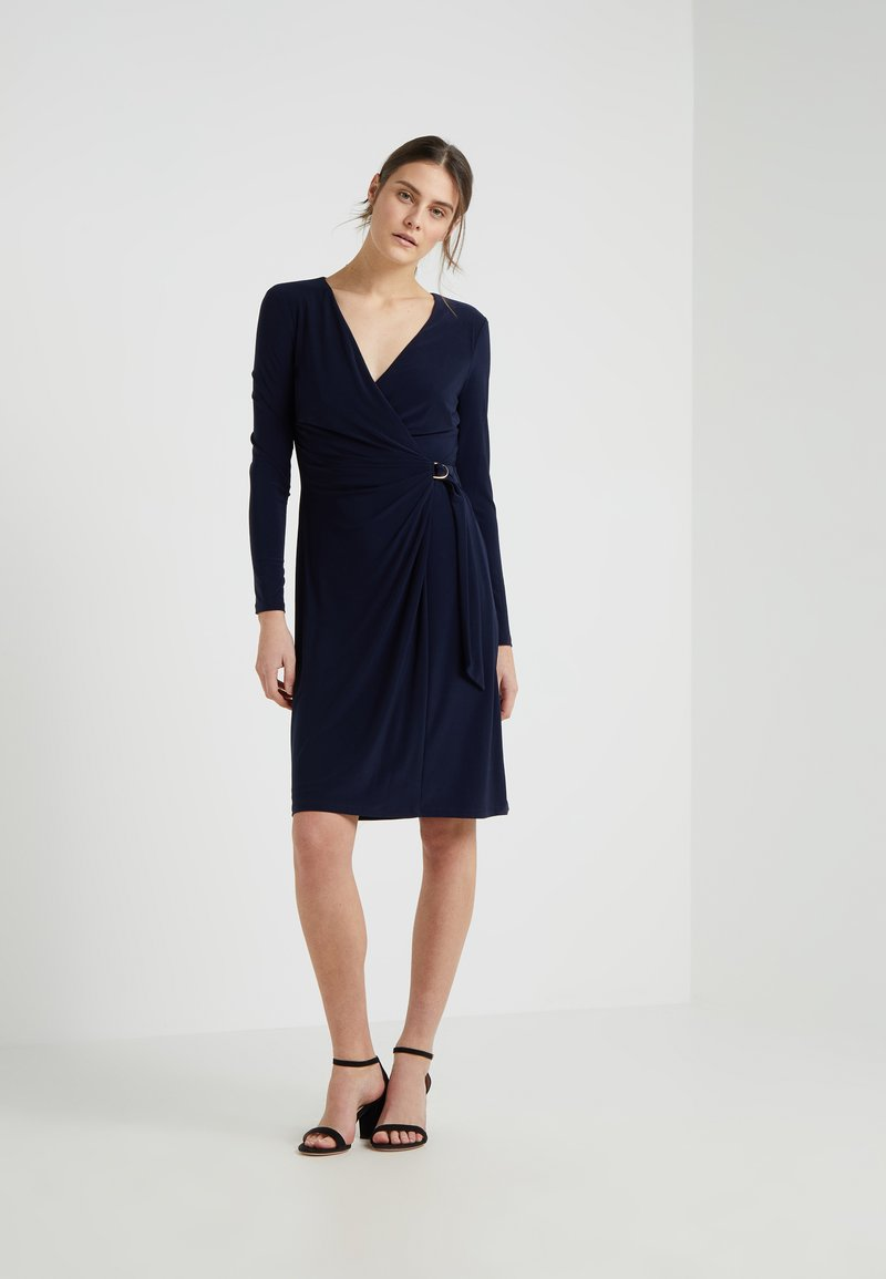 Lauren Ralph Lauren - CASONDRA LONG SLEEVE DAY DRESS - Jerseykleid - lighthouse navy