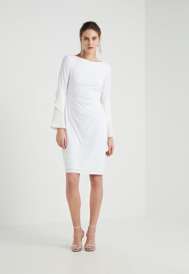 Lauren Ralph Lauren - MADDY LONG SLEEVE DAY - Jerseykleid - white