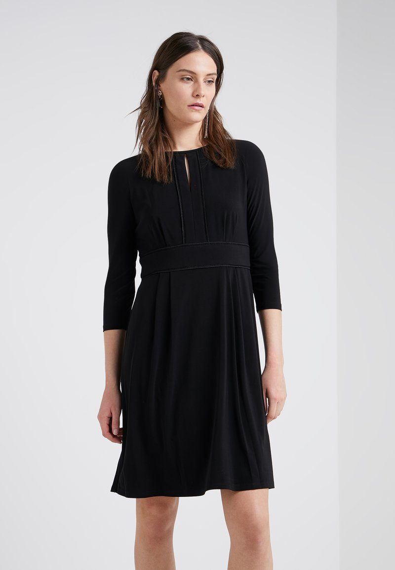 Lauren Ralph Lauren - HANLEY LONG SLEEVE DAY DRESS - Jerseykjoler - black