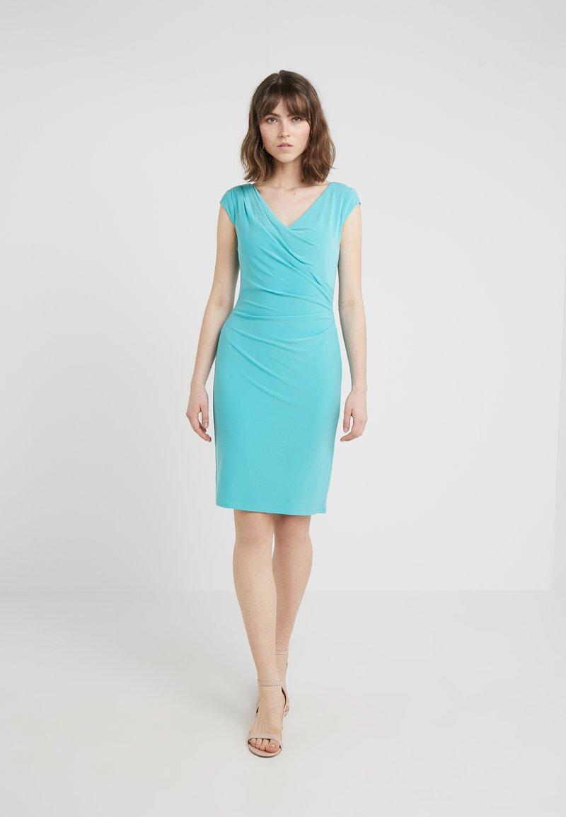 Lauren Ralph Lauren - BRANDIE CAP SLEEVE DAY DRESS - Etuikjole - deep aqua