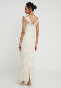 Lauren Ralph Lauren - KIRLENE SLEEVELESS EVENING DRESS - Iltapuku - cashew - 2