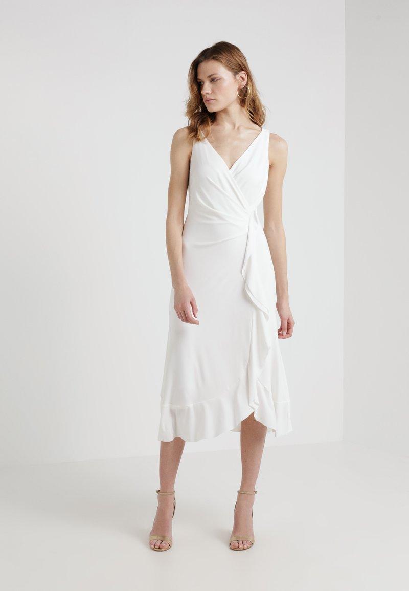 Lauren Ralph Lauren - JACKSTON  SLEEVELESS DAY DRESS - Jerseykleid - white