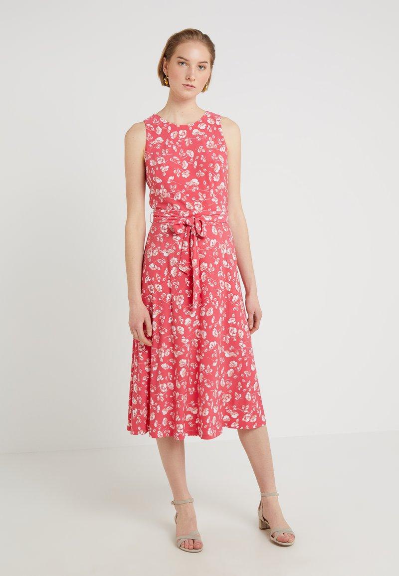Lauren Ralph Lauren - FELIA SLEEVELESS DAY DRESS - Jerseykleid - starfruit/peach/colonial cream