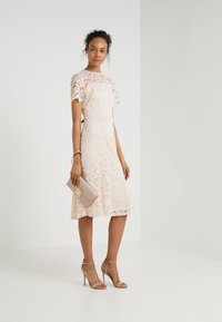 Lauren Ralph Lauren - LOKI SHORT SLEEVE DRESS - Robe de soirée - belle rose - 1